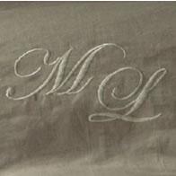 フランスベッド 掛けふとんカバー リネン刺繍 フレンチリネン