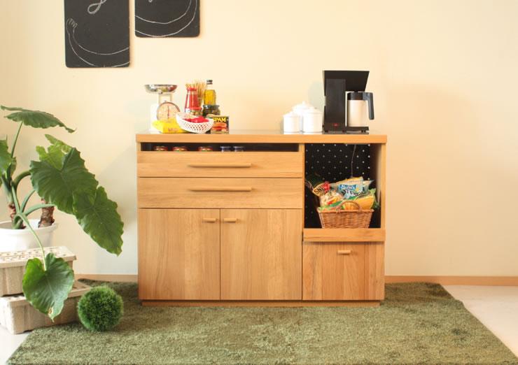 ナチュラル&シンプル キッチンカウンター OCTA オクタ 120カウンター キッチン収納家具