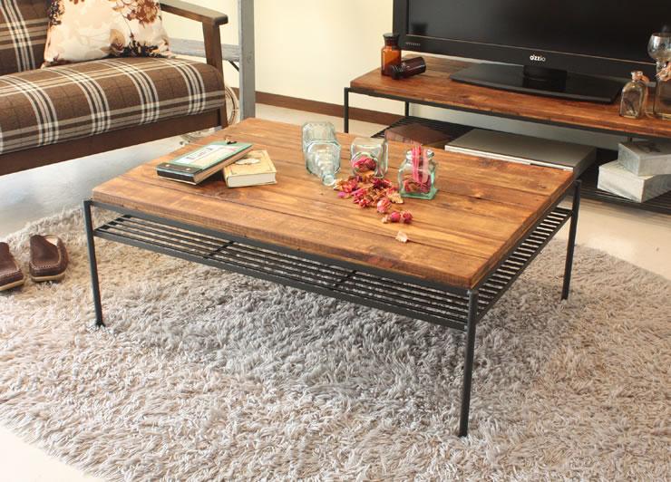 アイアン&アンティークデザイン センターテーブル KeLT ケルト リビングテーブル カフェテーブル