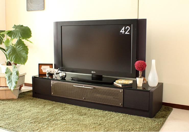 すっきりシンプルなモダンデザイン お手入れ簡単な ガラス天板 日本製テレビボード MILE マイル 160ローボード TVボード