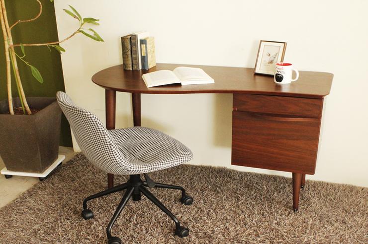 シックな千鳥格子のファブリックがおしゃれなデスクチェア PICUE ピケ オフィスチェア キャスター付きチェア 書斎・オフィス