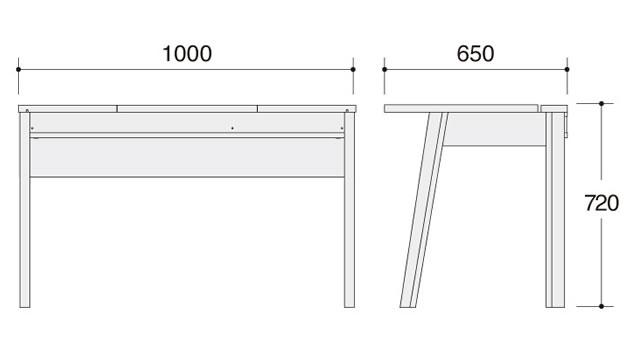 ラトリオ Latorio デスク1000 86NC1D-WH77 86NC1D-WH78 約幅1000×奥行き650×高さ720mm