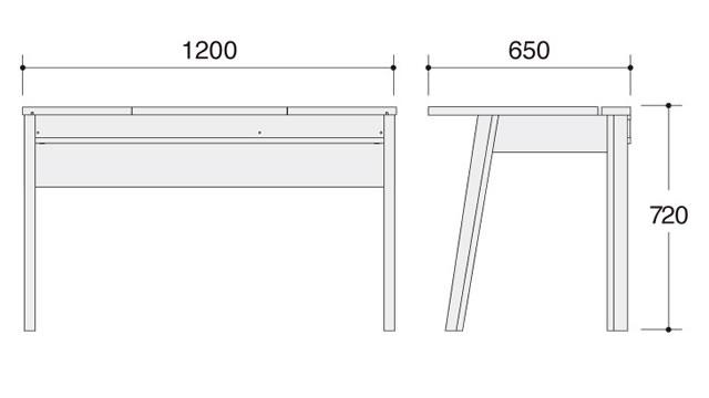 ラトリオ Latorio デスク1200 86NC2D-WH77 86NC2D-WH78 約幅1200×奥行き650×高さ720mm