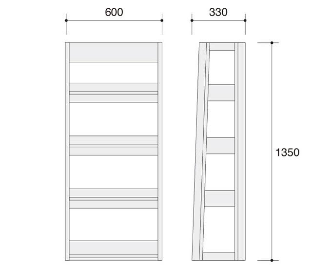 ラトリオ Latorio 書棚 86NC6R-WH77 86NC6R-WH78 オカムラ 約幅600×奥行き330×高さ1350mm