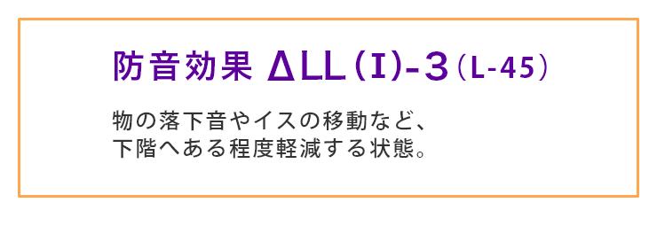 防音効果 ΔLL(I)-3 (L-45)
