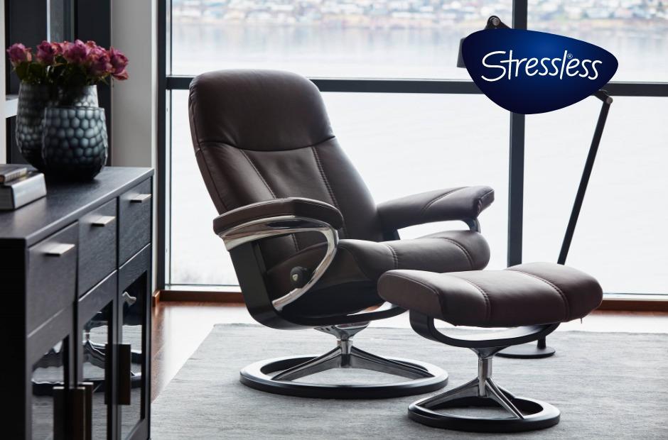 ストレスレスチェア コンサルM シグニチャー オットマン付 Mサイズ