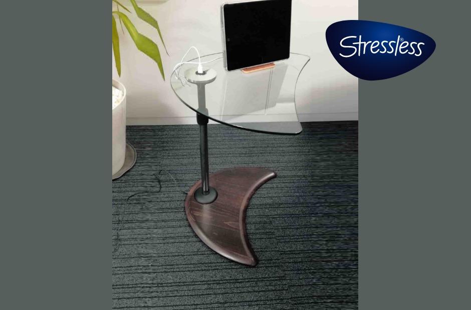 ストレスレス USBテーブルA ガラス/ウッド