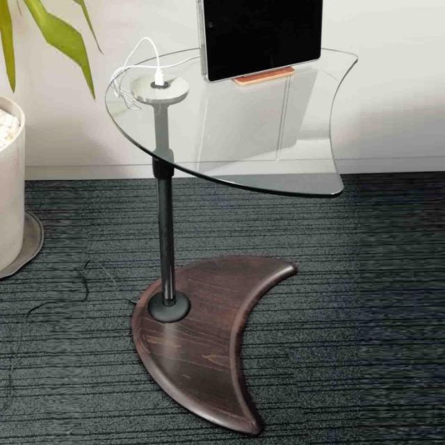 USBテーブルA ガラス/ウッド