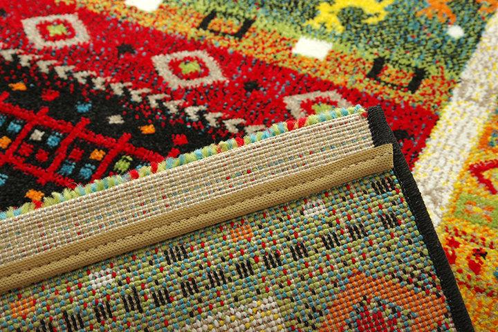 ギャベ柄のボリュームのあるウィルトン織玄関マット