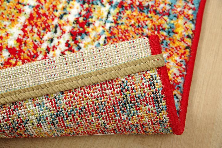 チェック柄がかわいい!ウィルトン織玄関マット