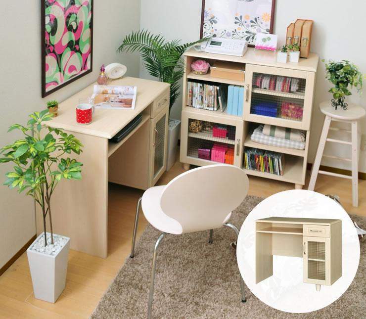 ハイデスク 収納家具 PA70-90HD 佐藤産業 北欧家具