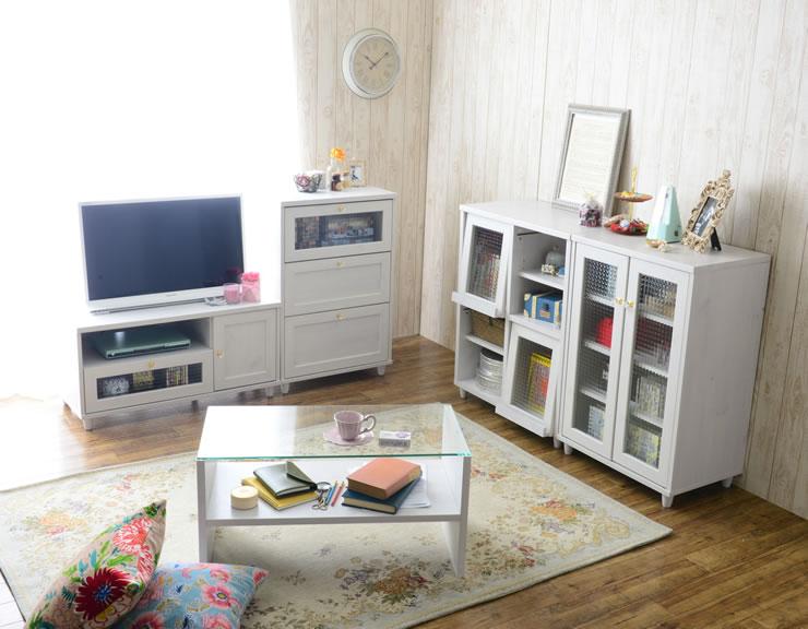 ブレンド ホワイト 佐藤産業 レトロ調家具