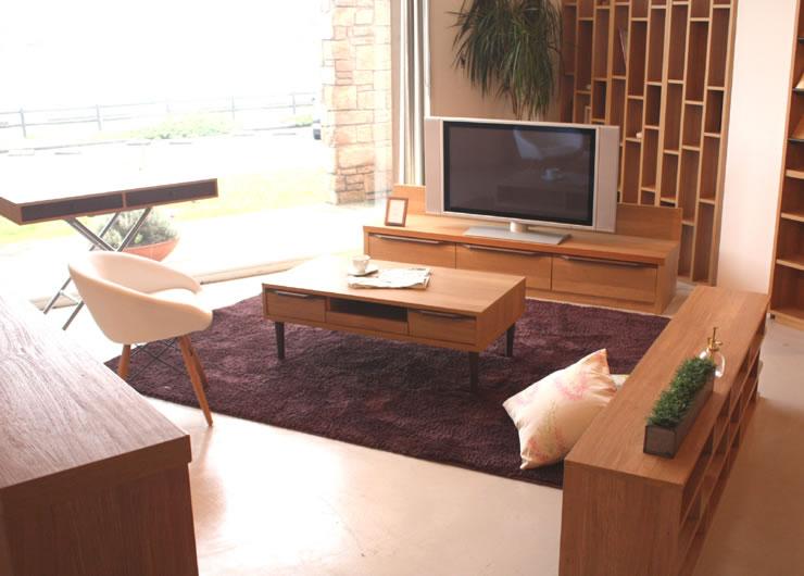 ナチュラル&シンプル リビングボード キャビネット HOMA ホマ 120AVチェスト TVボード