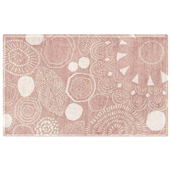 柔らかいピンクカラーのゴブラン織マット ペタルナット